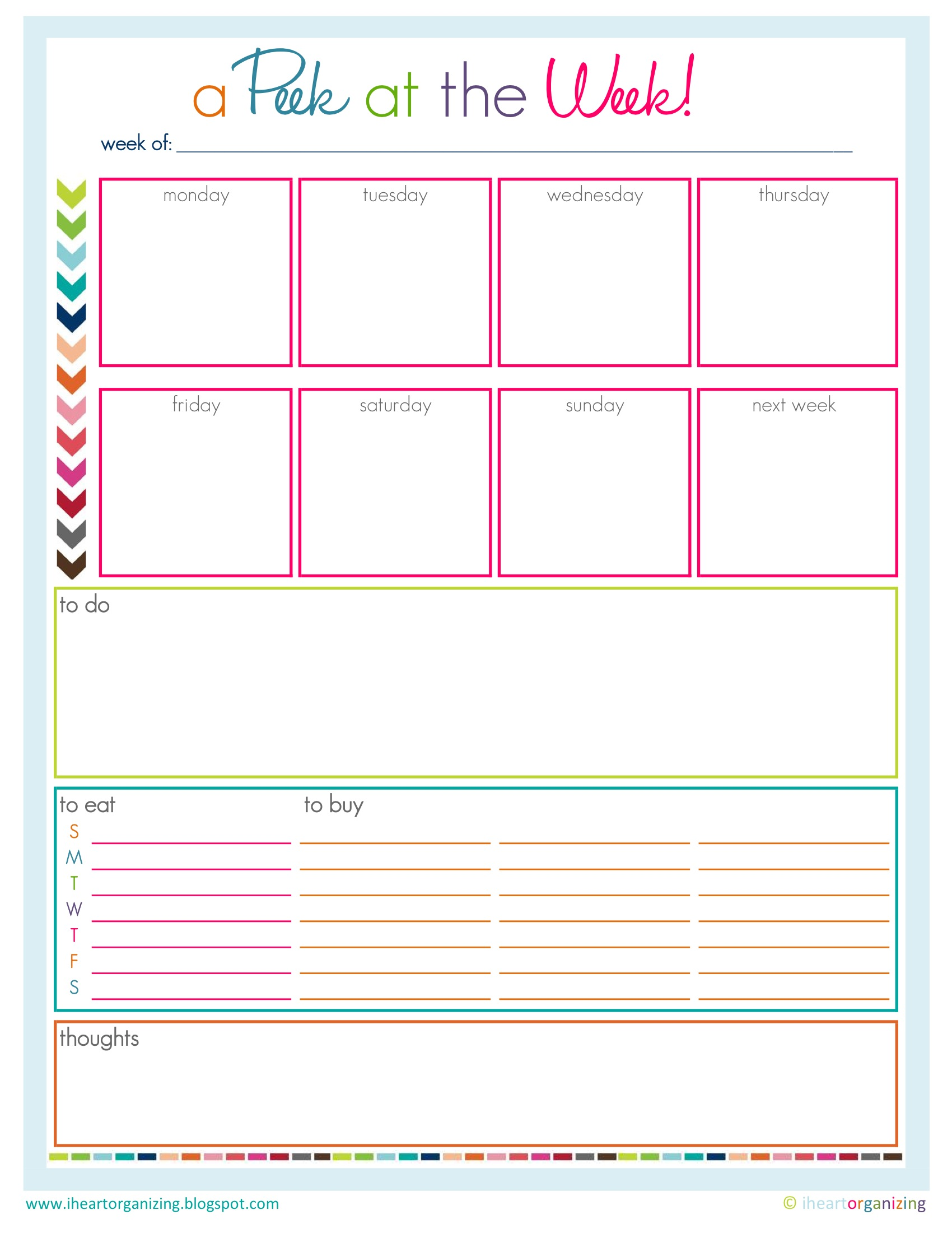 to do list easy going organizer